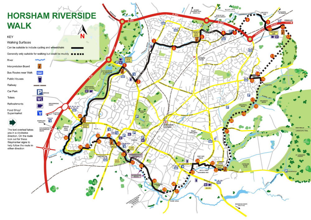 Horsham Community Partnership, Walks map